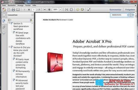 Screenshot Adobe Reader per Windows 8.1
