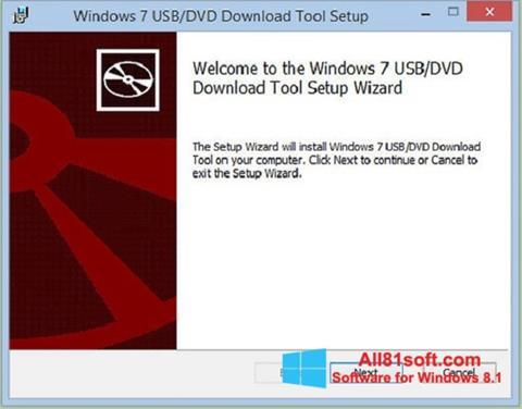Screenshot Windows 7 USB DVD Download Tool per Windows 8.1