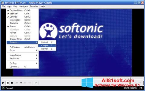 Screenshot Media Player Classic per Windows 8.1