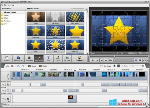 Screenshot AVS Video Editor per Windows 8.1