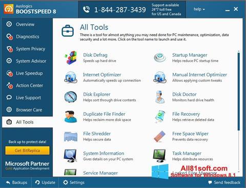 Screenshot Auslogics BoostSpeed per Windows 8.1