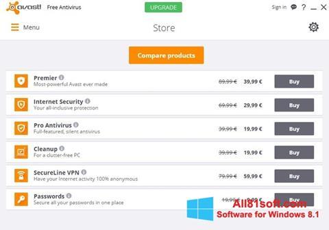 Screenshot Avast Free Antivirus per Windows 8.1