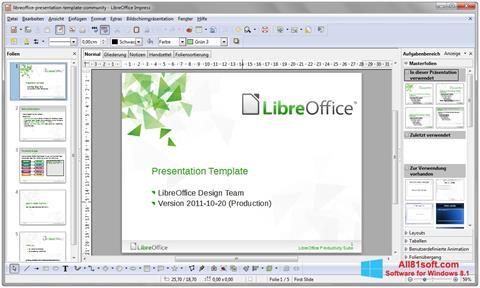 Screenshot LibreOffice per Windows 8.1