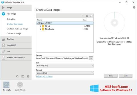 Screenshot DAEMON Tools Lite per Windows 8.1