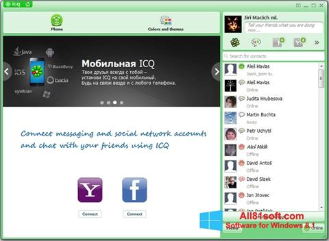 Screenshot ICQ per Windows 8.1