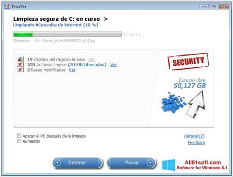 Screenshot PrivaZer per Windows 8.1