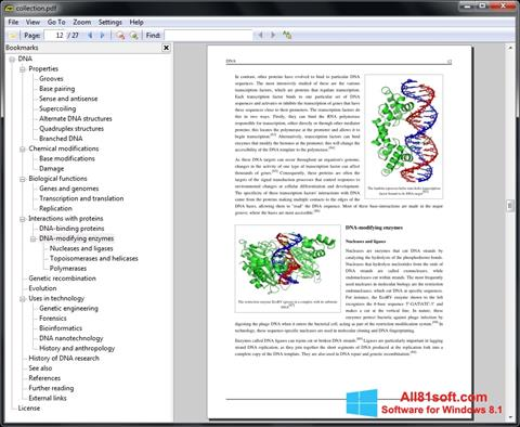 Screenshot Sumatra PDF per Windows 8.1