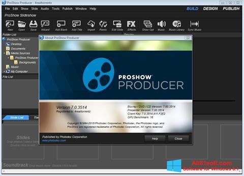 Screenshot ProShow Producer per Windows 8.1