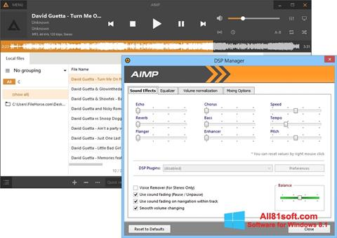 Screenshot AIMP per Windows 8.1