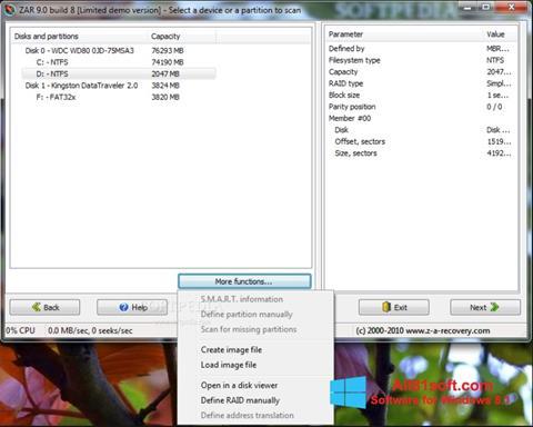 Screenshot Zero Assumption Recovery per Windows 8.1