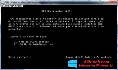 Screenshot HDD Regenerator per Windows 8.1