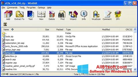 Screenshot WinRAR per Windows 8.1