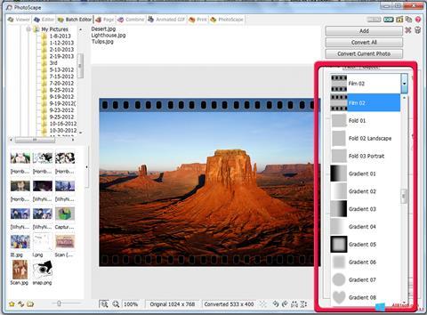 Screenshot PhotoScape per Windows 8.1