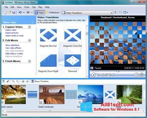 Screenshot Windows Movie Maker per Windows 8.1