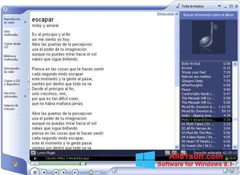 Screenshot Windows Media Player per Windows 8.1