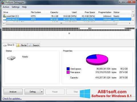 Screenshot Defraggler per Windows 8.1