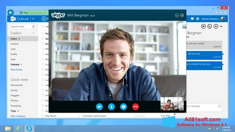 Screenshot Skype per Windows 8.1